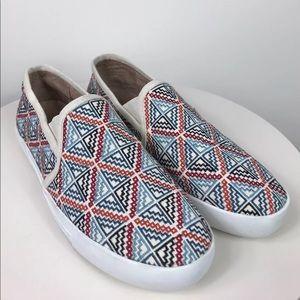 Joie Huxley Geometric Canvas Slip On Sneaker